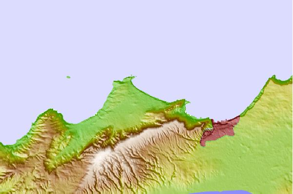 Tide stations located close to 'Ain el Turk