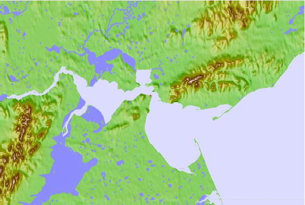 Tide stations located close to Anadyr