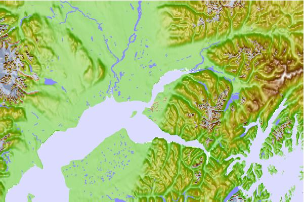 Tide stations located close to Anchorage (Knik Arm), Alaska