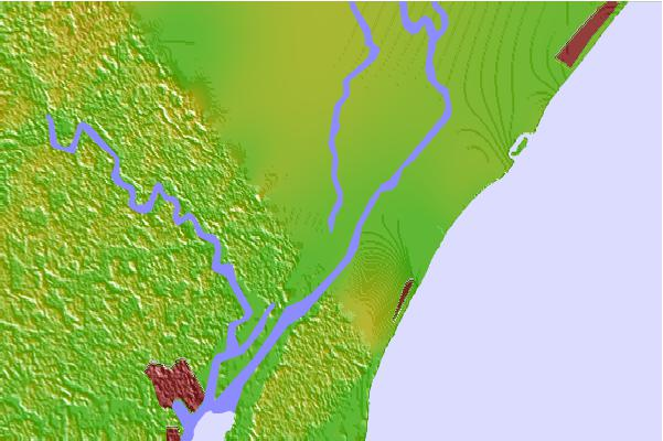Tide stations located close to Arundel Plantation, Great Pee Dee River, South Carolina