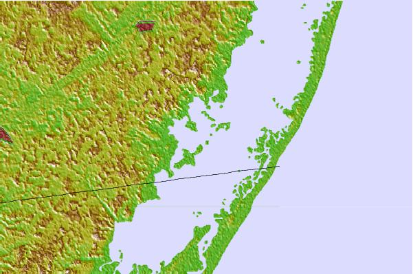 Tide stations located close to Assacorkin Island, Chincoteague Bay, Maryland