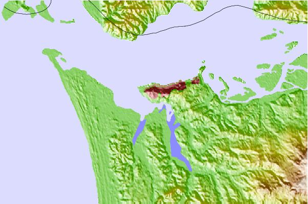 Tide stations located close to Astoria (Youngs Bay), Columbia River, Oregon