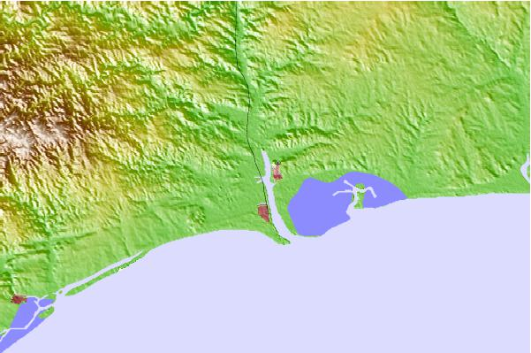 Tide stations located close to Ayamonte, Spain
