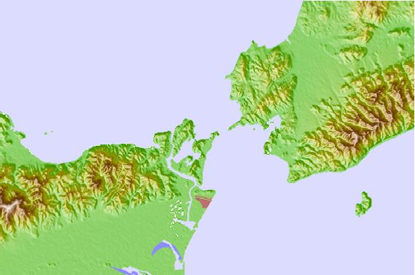 Tide stations located close to Aziro (Naruto), Tokusima, Japan