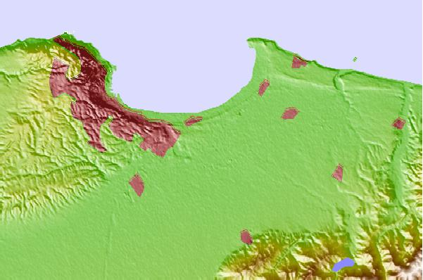 Tide stations located close to Bab Ezzouar