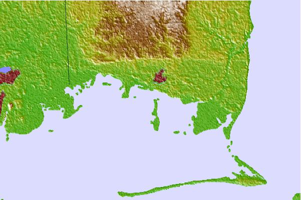 Tide stations located close to Bayou La Batre, Mississippi Sound, Alabama