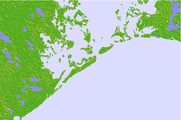 Tide stations located close to Bayou Rigaud (Grand Isle), Louisiana