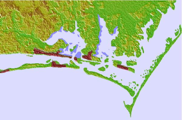Tide stations located close to Beaufort, Taylor Creek, North Carolina