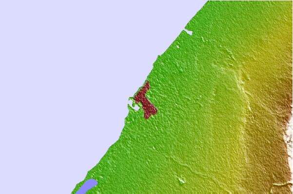 Tide stations located close to Benghazi