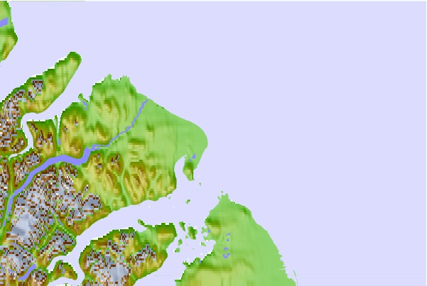 breaks and cities that are in the area of Cape Christian, Nunavut