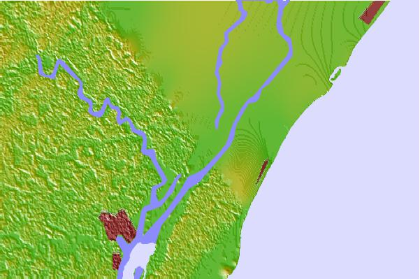 Tide stations located close to Carr Creek, 1 miles above entrance, Great Pee Dee River, South Carolina
