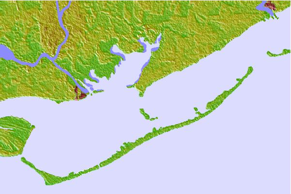 Tide stations located close to Cat Point, Apalachicola Bay, Florida