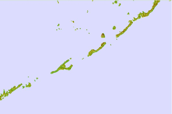 Tide stations located close to Channel Two, east, Lower Matecumbe Key, Florida Bay, Florida
