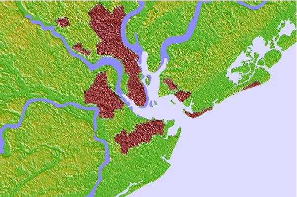 Tide stations located close to Charleston, South Carolina