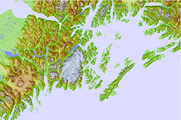 Tide stations located close to Chenega Island, Dangerous Passage, Alaska