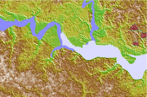 Tide stations located close to Claremont, James River, Virginia
