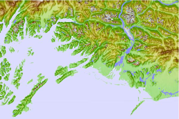 Tide stations located close to Cordova, Alaska