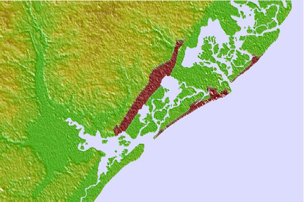 Tide stations located close to Dock Thorofare, Risley Channel, New Jersey
