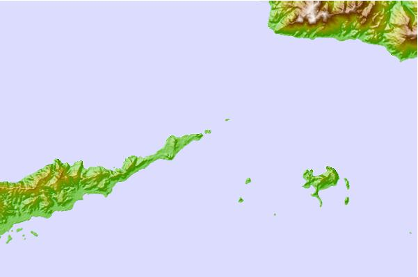 Tide stations located close to East Cape, Papua New Guinea