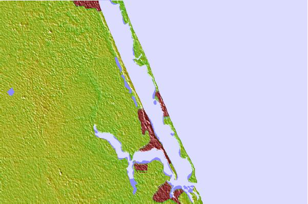 Tide stations located close to Eden, Nettles Island, Indian River, Florida