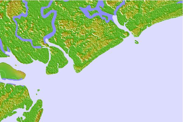 Tide Stations Located Close To Edisto Beach Island South Carolina
