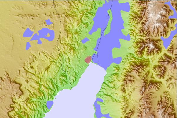 Tide stations located close to Eilat
