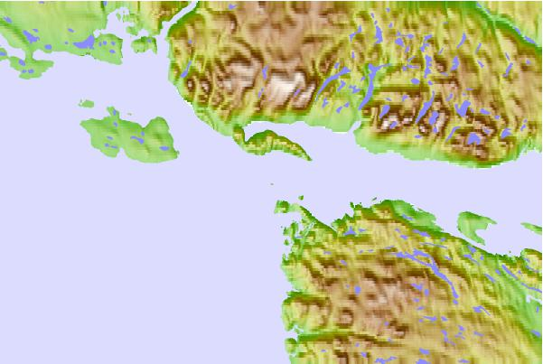 Tide stations located close to Entrance Island, Nunavut