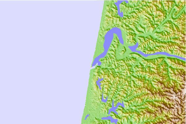 Umpqua River Map Entrance Umpqua River Oregon