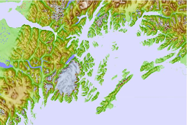 Tide stations located close to Eshamy Bay, Knight Island Passage, Alaska