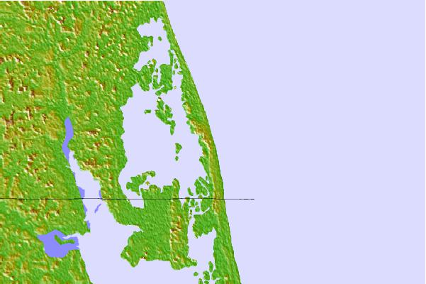 Tide stations located close to False Cape, Virginia