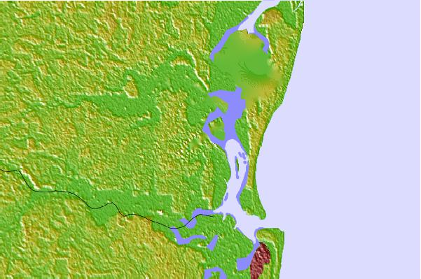 Tide stations located close to Fort George Island, Florida