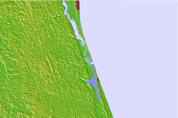 Tide stations located close to Fort Matanzas, Matanzas River, ICWW, Florida
