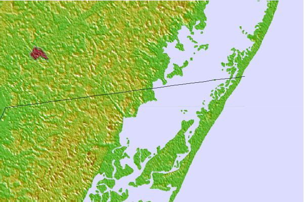 Tide stations located close to Franklin City, Chincoteague Bay, Virginia