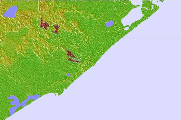 Tide stations located close to Freeport Harbor, Texas