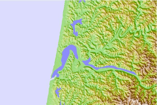 Umpqua River Map Umpqua River Oregon Map