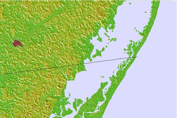Tide stations located close to George Island Landing, Chincoteague Bay, Maryland