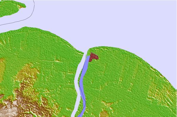 map of guyana showing rivers