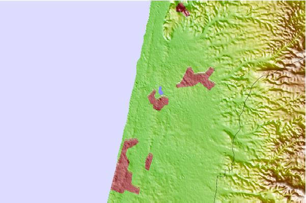Tide stations located close to Hadera