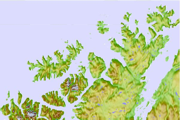 Tide stations located close to Hammerfest, Norway
