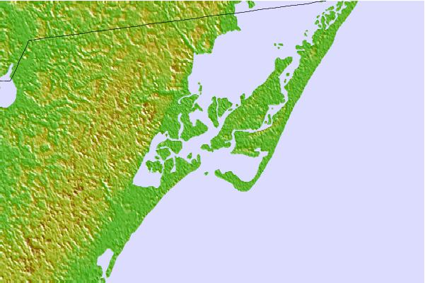 Tide stations located close to Harbor of Refuge, Chincoteague Bay, Virginia