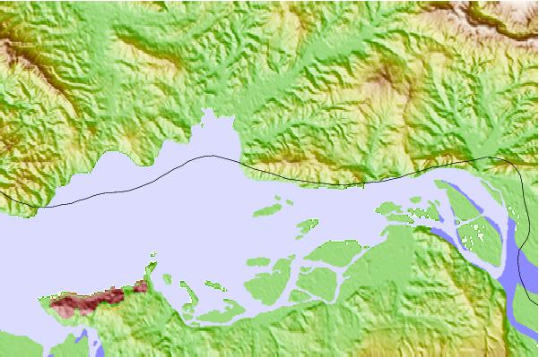Tide stations located close to Harrington Point, Columbia River, Washington