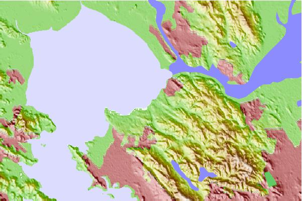 Tide stations located close to Hercules, Refugio Landing, San Pablo Bay, California