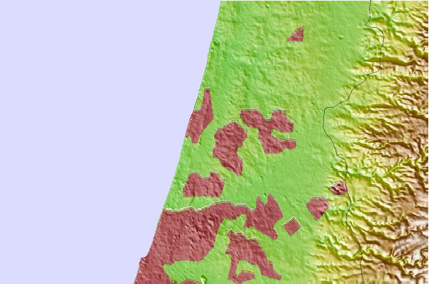 Tide stations located close to Herzliya
