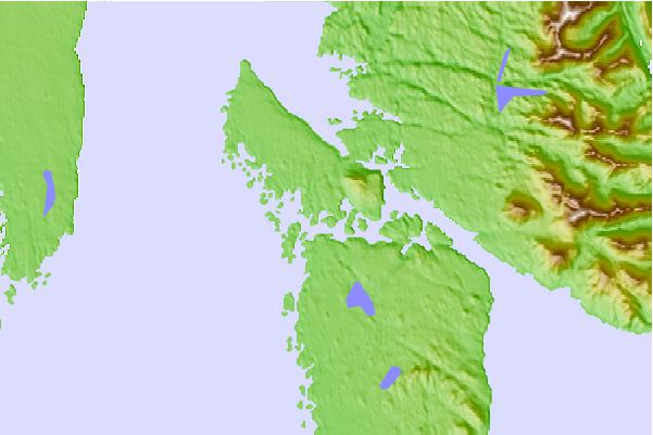 Tide stations located close to Higgins Island, British Columbia