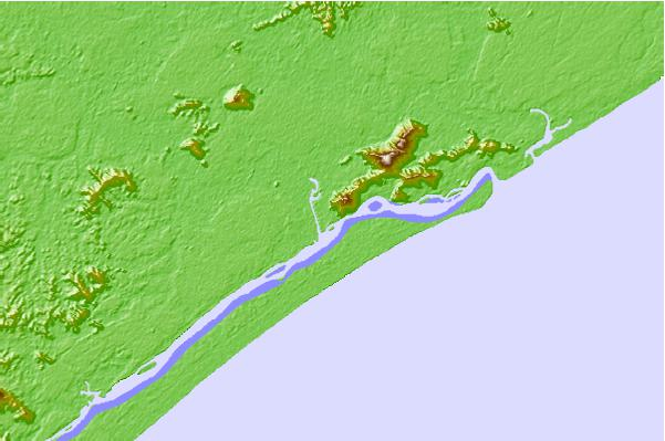 Tide stations located close to Iguape