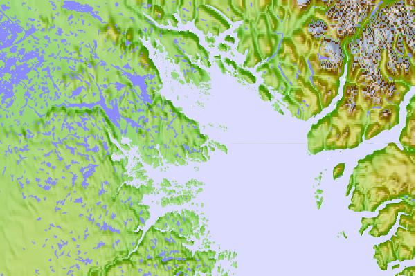 Tide stations located close to Imigen Island, Nunavut