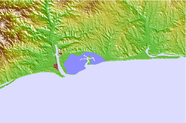 Tide stations located close to Isla Cristina