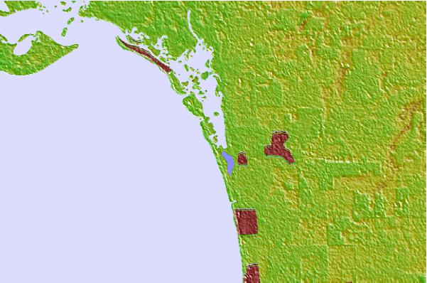 Tide stations located close to Little Hickory Island, Florida