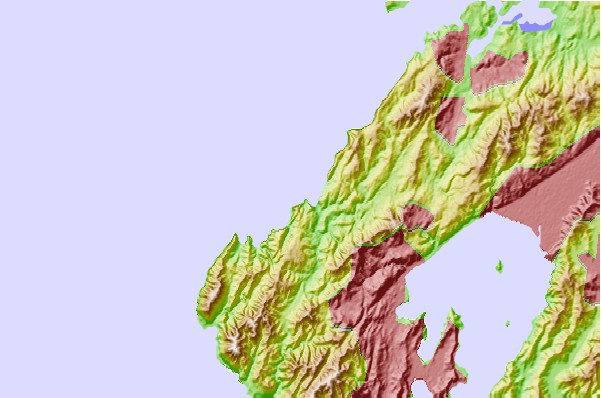 Tide stations located close to Makara Bay, New Zealand