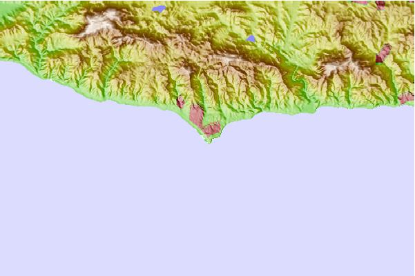 Tide stations located close to Malibu